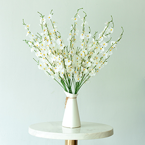 artificial orchids flowers white