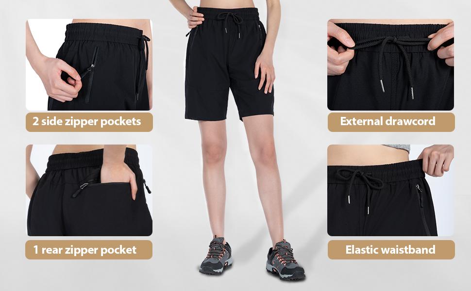 hiking shorts women 7 inch