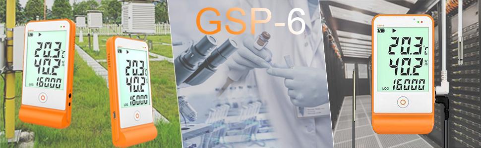GSP-6 10PCS Elitech GSP-6 Registrador de Datos de Temperatura y Humedad 16000 Puntos para La Cadena de Fr/ío de Refrigeraci/ón