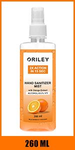 mist hand sanitizer 260ml