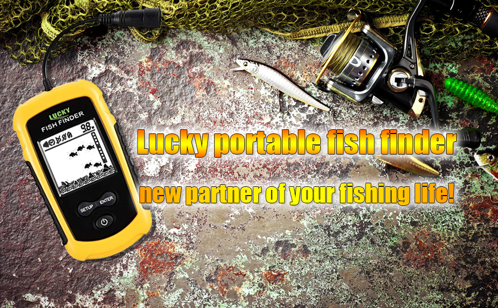 lucky portable fishfinder hand held