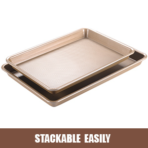 cookie pans for baking nonstick baking sheets for oven jelly roll pan rectangular baking pans
