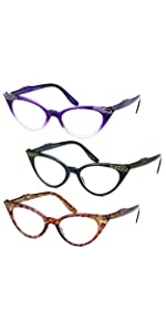 gamma ray optix' womens reading glasses with magnification 3 pack