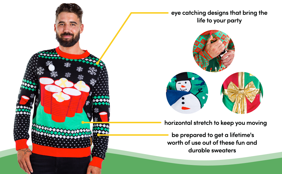men's interactive funny ugly Christmas Sweater game