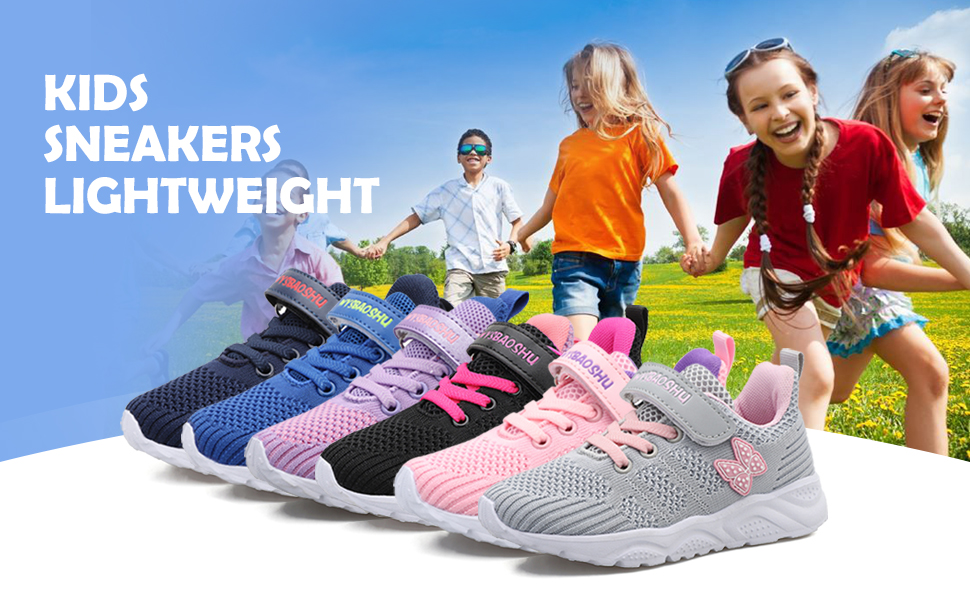 Lightweight and breathable trainers for toddler little big girls boys