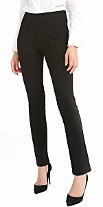 Bamans, pantaloni da lavoro da donna con due tasche, elasticizzati, casual