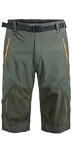 Men's Outdoor Quick Dry Hiking Cargo Capri Shorts Summer 3/4 Pants
