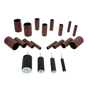 ABN 20 Piece Reusable Sanding Drum Kit for Drill Press Sander