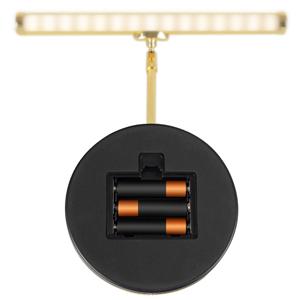 LED Piano Leuchte Klavier Lampe Noten Tisch Licht warmweiß USB Batterie schwarz