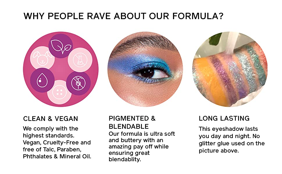 hipdot matte shimmery color eyeshadow palette neutral vibrant colors makeup clean glitter