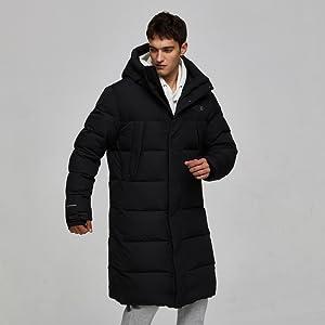 Sports Jacket puffer long coat for men