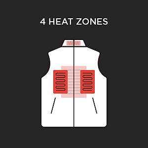 4 heating zones vest