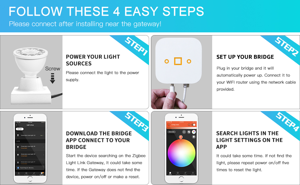 how to use connect easy app control hue bridge gateway hub zigbee
