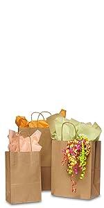 100% Recycled Kraft Shopping Bags