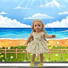 Love flower American girl doll dress