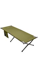 KingCamp Cama Plegable Camping Cama Portátil 190 × 68 × 48 cm ...