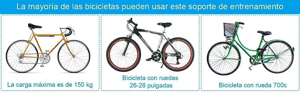 COSTWAY Rodillo Magnético Entrenamiento Bicicleta de Acero Resistencia Plegable Carga hasta 150kg Negro: Amazon.es: Deportes y aire libre