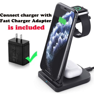iphone and iwatch charging dock