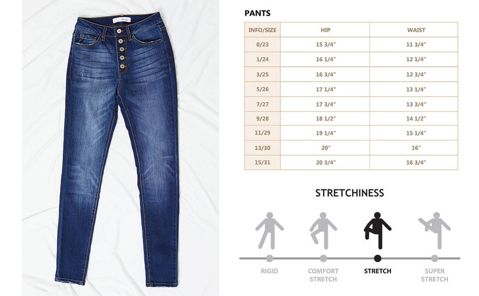 Kan Can Women S High Rise Curvy Button Fly Super Skinny Jeans Kc7114 At Amazon Women S Jeans Store