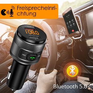 FM Transmitter, CHGeek QC3.0 Bluetooth FM Transmitter