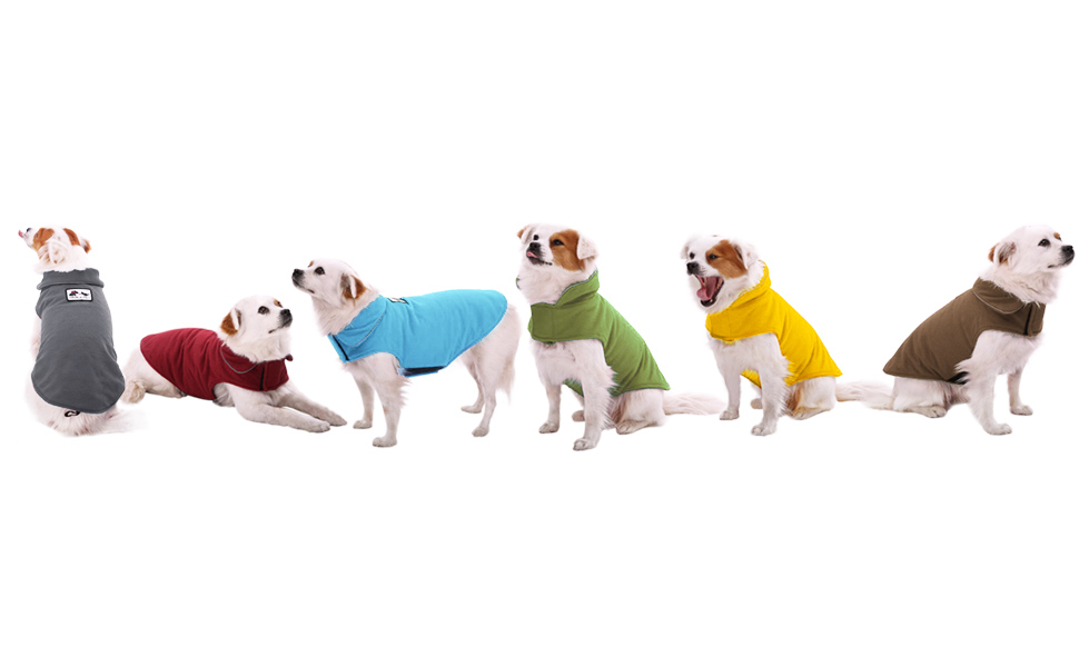 Multicolored Puffer Jacket aingycy Dog Jacket Dog Clothes Warm S,M,L,XL,2XL Winter Dog Vest Sweater