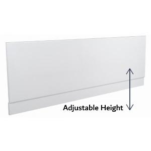 Adjustable height bath panels