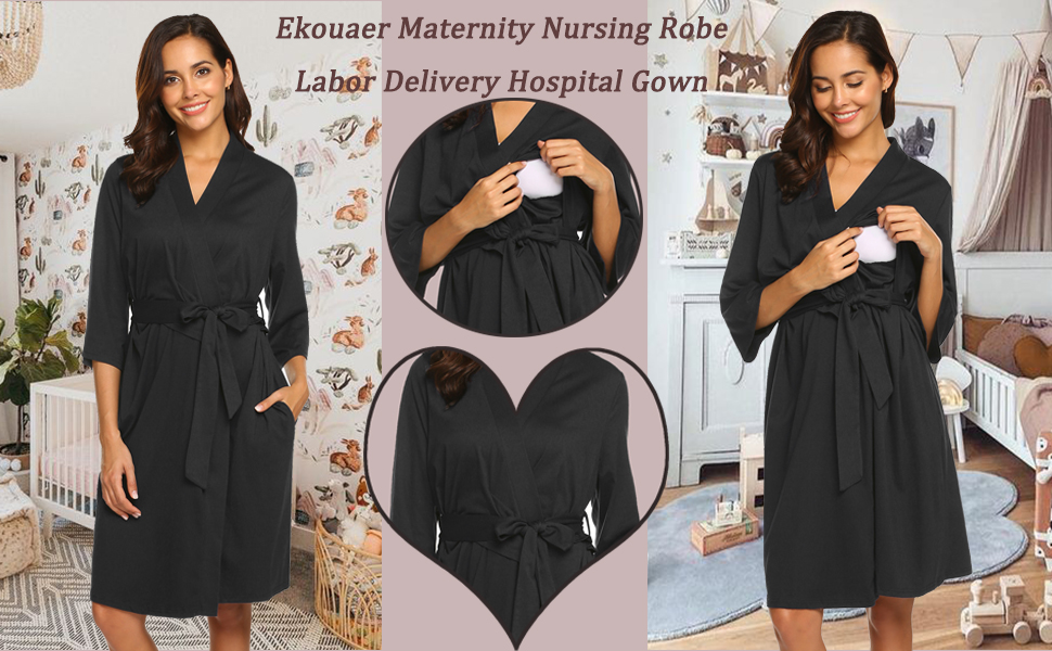 maternity nursing robe