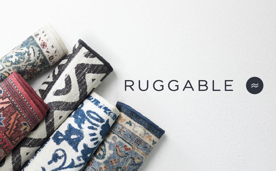 Ruggable, rug, area rug, runner, washable