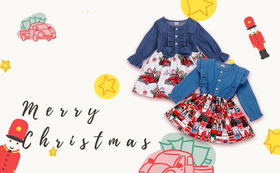 Infant Toddler Baby Girls Christmas Dress