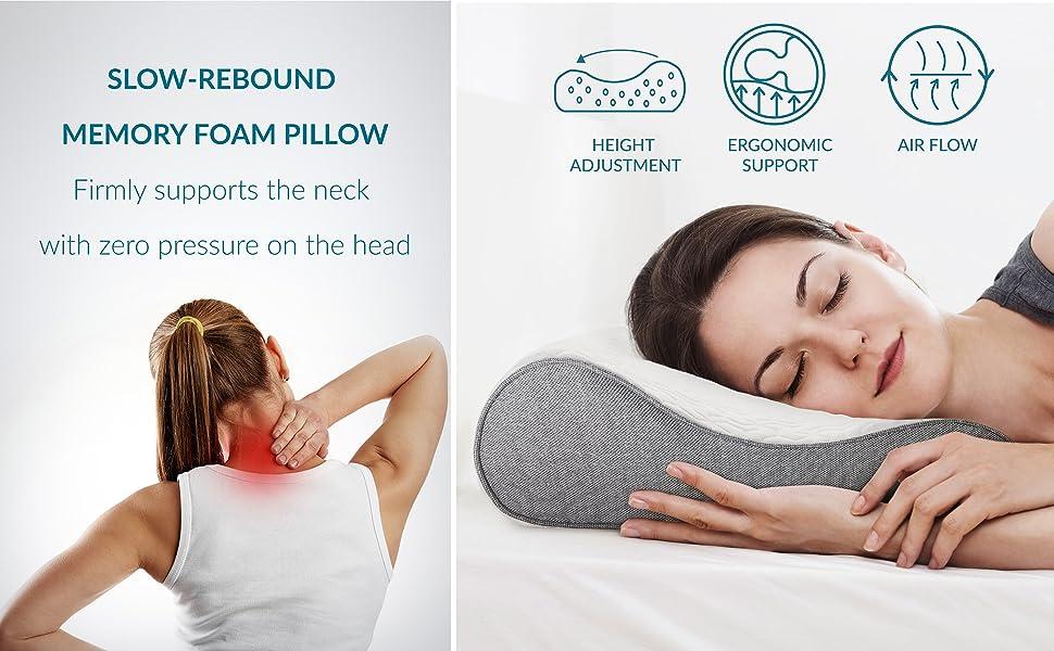 Bedsure Contour Memory Foam Pillow