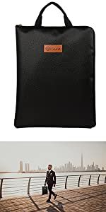 A newly launched fireproof bag with a fireproof zipper, ideal for holding A4 size documents