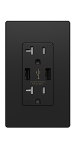 decora duplex electric usb all outlet receptacle