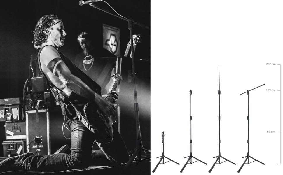 50 cm langem Galgen Mit versenkbarem aus Stahl Pronomic MSF-500 Pro Mikrofonst/änder Schnellverschl/üsse f/ür H/öhenverstellung Innovatives Design schwarz sehr kompaktes Packma/ß