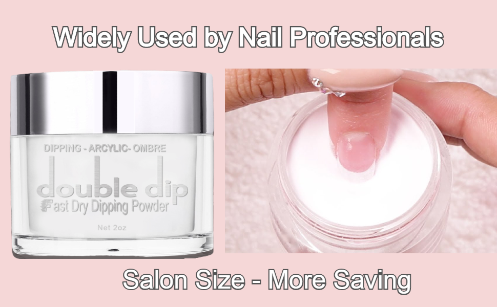 Dip clear powder double dip powder