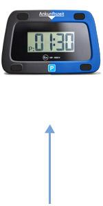 Achilles Parkwächter Digitale Parkscheibe Mit 2 Scheibenadapter Entspricht Der Straßenverkehrsordung Elektronische Parkuhr Für Das Auto In Blau 111 X 72 X 25 Mm Auto