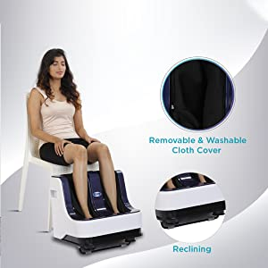 reclining massager for foot and calf