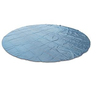 an Verschiedene Poolgr/ö/ßen anpassbar 210cm strapazierf/ähige Abdeckplane com-four/® Solar-Poolabdeckung /Ø 210 cm erw/ärmt das Wasser mit Solarenergie