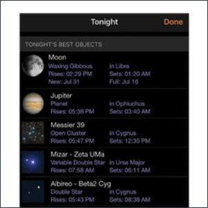 The Night Sky at Your Fingertips
