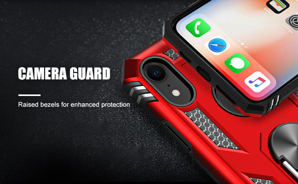 iPhone XR case with ring