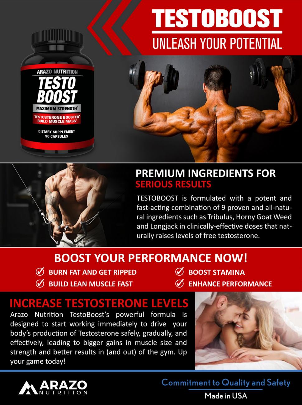 TESTOBOOST Test Booster Supplement