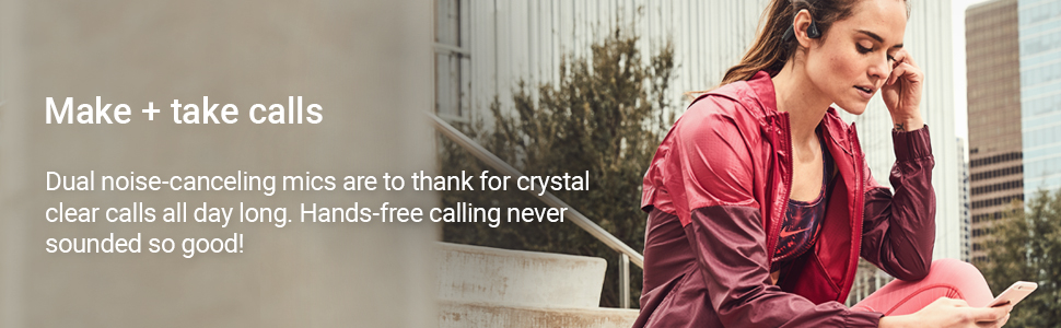 6 hours of battery life and dual noise-canceling mics for music  crystal clear calls all day long.