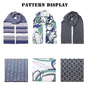 laying scarf pattern display