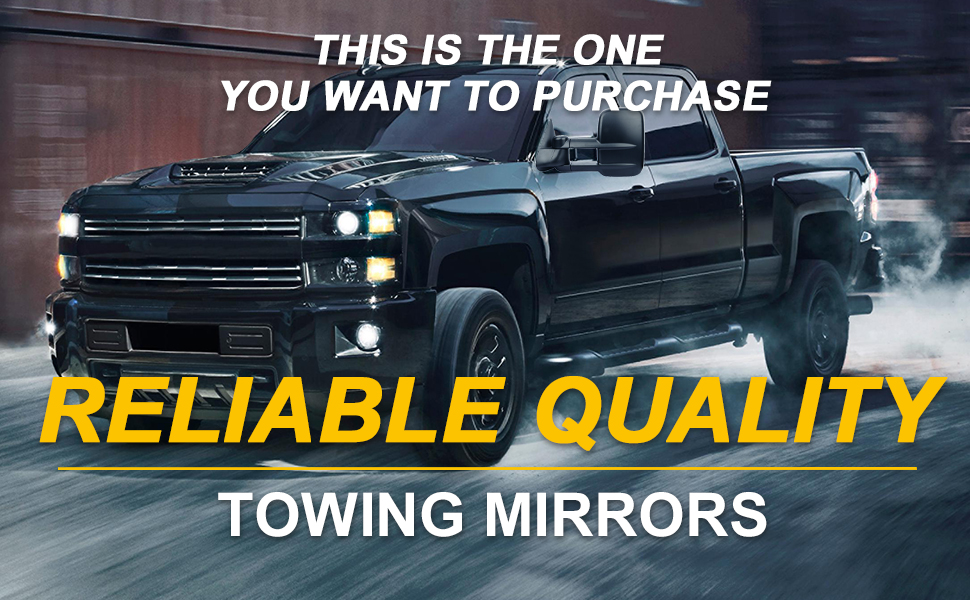 OCPTY Towing Mirrors Manual Telescoping Upgrade Left and Right Tow Mirrors for 1999-2006 Chevy Silverado GMC Sierra 1500 2500 3500 62073-74G