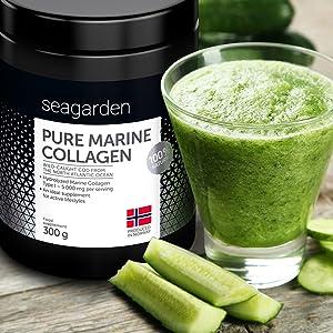 Polvo de colágeno marino puro noruego | Péptidos hidrolizados | de bacalao noruego, ártico y salvaje | Suplemento para la piel, cabello, uñas, tendones, ligamentos | 100% natural | 300 g: Amazon.es: Salud y cuidado personal