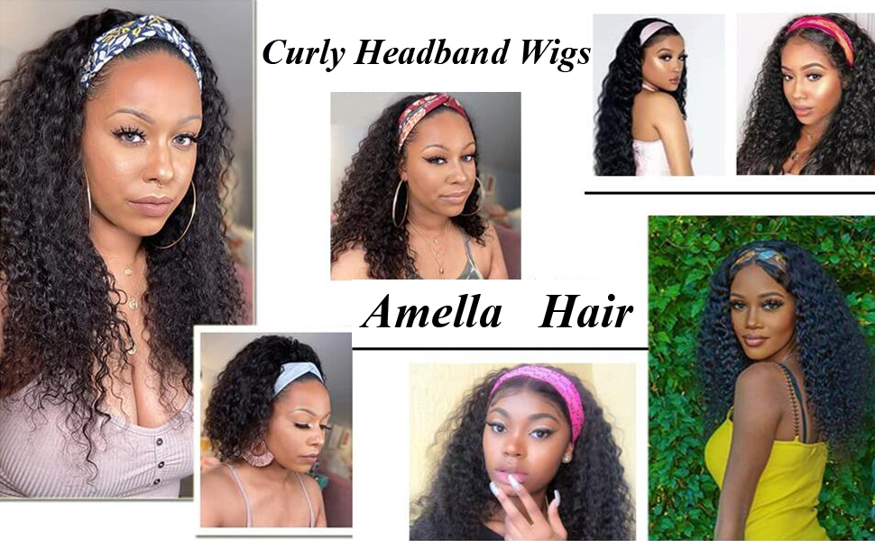 curly headbangs wig