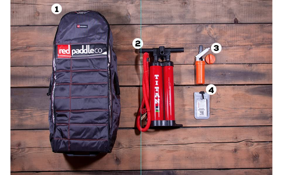 Red Paddle Co Package, Titan Pump, Wheeled Carry Bag