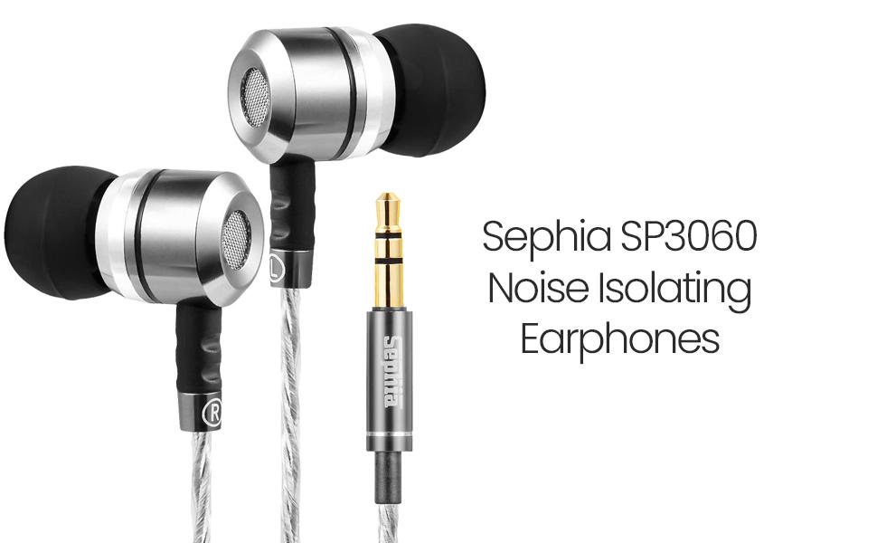sephia sp3060 noise isolating earbuds earphones heaadphones