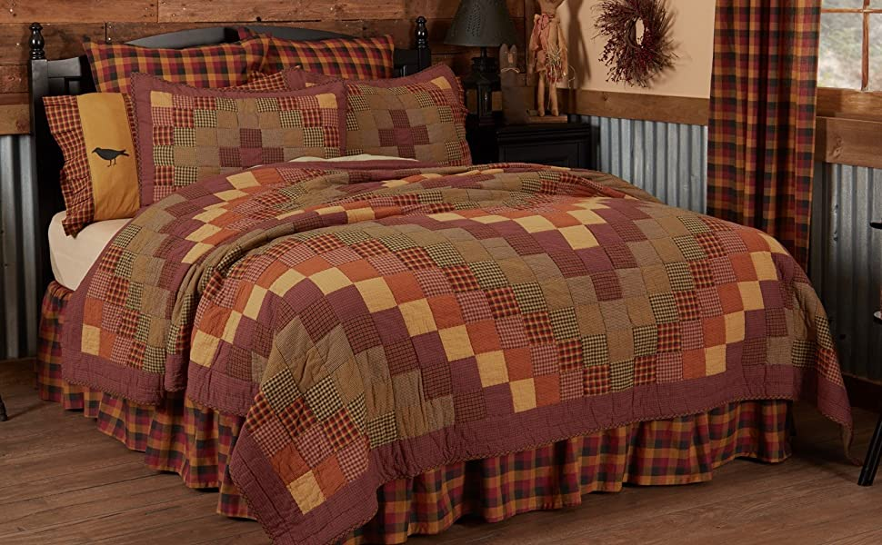 Heritage Farms Quilt primitive country rustic Americana VHC Brands patchwork bedding