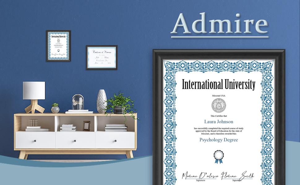 Certificate Frames Icona Bay 8.5X11 Hickory Brown, 2 Pack 22X28 Cm Contempo