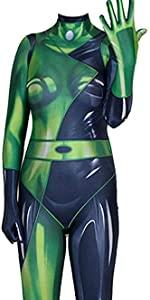shego kim possible costume halloween lycra fabric